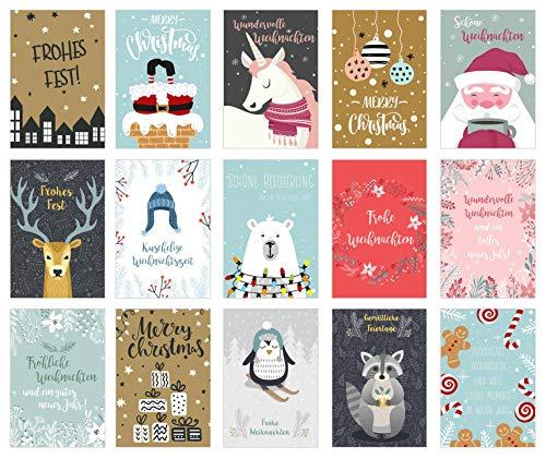 Edition Seidel - Set di cartoline natalizie, set di biglietti natalizi 30 Karten set 3