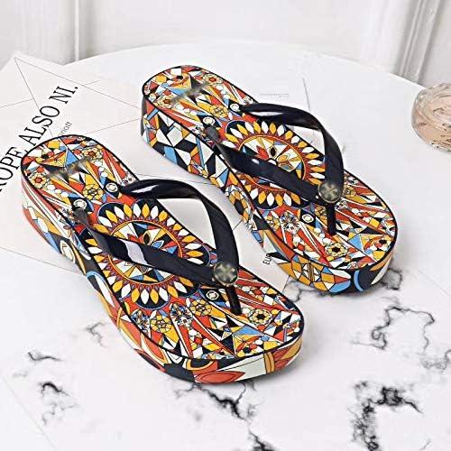 Shukun Tongs Femme Tongs Tongs Femmes Compensées Plateforme Slip Sandales Mode Simple Et Belle Vacances Plage Chaussures D'été