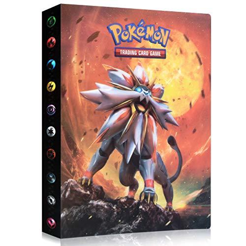 Álbum de Pokemon, Pokemon Cartas Álbum, Comercio Tarjeta Álbum, Carpeta de Titular de Tarjetas de Pokemon, GX y EX Cartas Pokemon Álbum, Pokemon Cards Album Protección, 30 páginas 240 Tarjetas Dobles