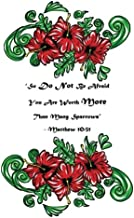 So Do Not Be Afraid, You Are Worth More Than Many Sparrows - Matthew  10:31: 110 page (8.5 x 11 inch) Large Composition Book - Christian Notebook ... (Floral Christian Notebooks and Journals)
