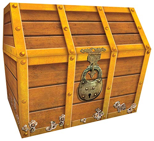 Teacher Created Resources TCR5048 Treasure Chest, 9-1/2 x 8 x 8-1/2 Inches , Brown