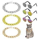 adakel - set di 6 occhiali da sole per gatti e gatti, per animali domestici, gatti, cani di piccola taglia, cuccioli