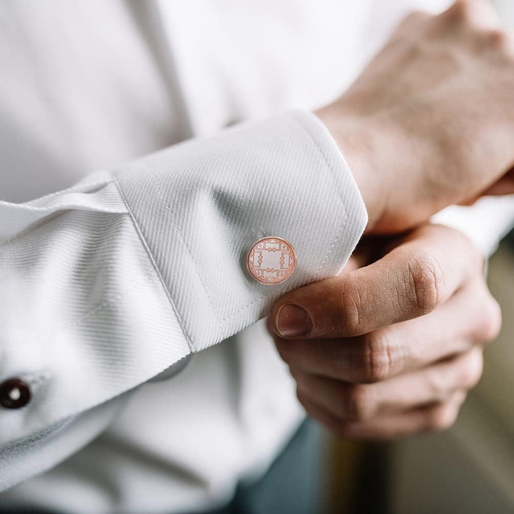 KESYOO Men Shirt Studs Cufflinks Decorative Wedding Cufflinks for Groom Men Womens Wedding Business Elegant Gifts