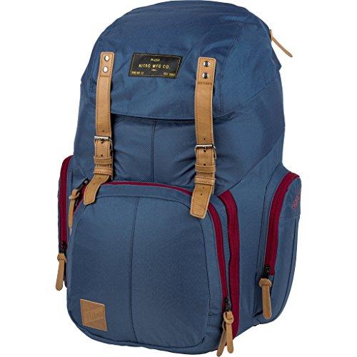 Weekender Alltagsrucksack mit gepolstertem Laptopfach, Schulrucksack, Wanderrucksack inkl. Nassfach, 42 L, Blue Steel