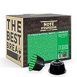 Note d'Espresso Italiano - Cápsulas de té verde matcha con menta y regaliz, Compatibles con cafeteras de cápsulas Nescafé, Dolce Gusto, 48 unidades de 16g