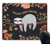 Mouse Pad Cute Baby Sloth On The Tree Mousepad Non-Slip Rubber Gaming Mouse Pad Rectangle Mouse Pads for Computers Laptop - 9.8(L)x 11.8(W) inch