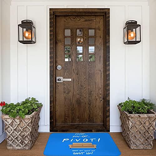 Pivot Pivot Friends Show - Felpudo para interiores y exteriores, antideslizante, lavable, absorbe rápidamente la humedad y resiste la suciedad para puerta, cocina, oficina, 40 x 60 cm