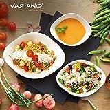 Villeroy & Boch - Vapiano Schalen-Trio, 6 tlg., ideal für das Dinner zu zweit, Premium Porzellan, spülmaschinen-, mikrowellengeeignet, Weiß - 2