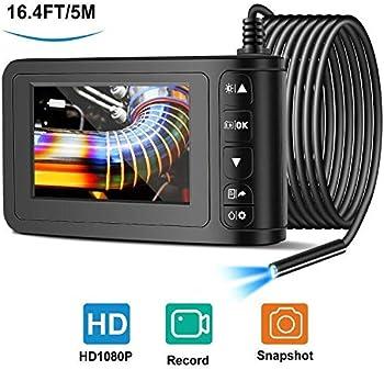 Facamword 1080p FHD 2MP Industrial Endoscope with 4.3