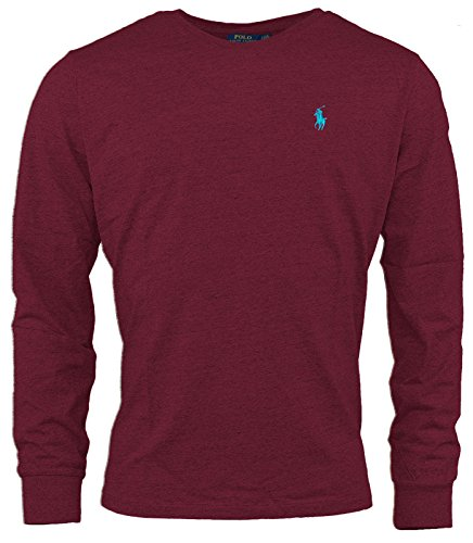 Polo Ralph Lauren Herren-T-Shirt mit Rundhalsausschnitt, Rot S