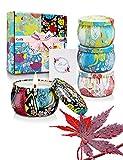 Yinuo Candle Duftkerze Aroma Kerzen 4 Dosen Geschenksets, Natürliche Soja-Wachskerzen, 500g, 25-30 Stunden Verbrennung, Aromatherapie-Kerzen Stressabbau