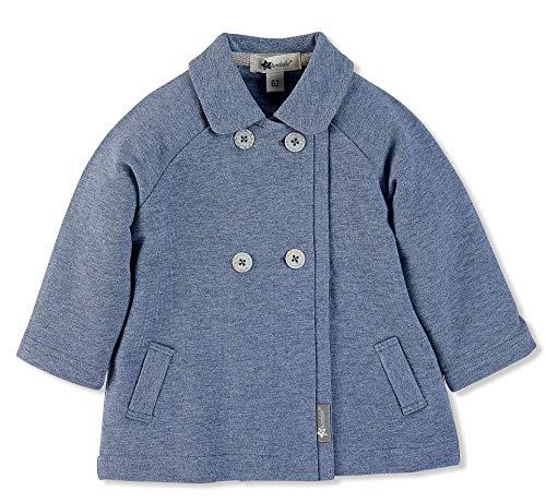Sterntaler Sweat-Jacke für Jungen, Kragen und doppelte Knopfleiste, Alter: 9-12 Monate, Größe: 80, Blau