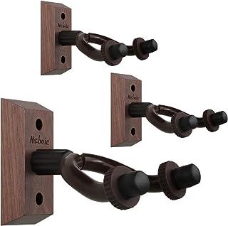3 Pack Guitar Wall Mount, Neboic Wood Guitar Wall Hanger,...