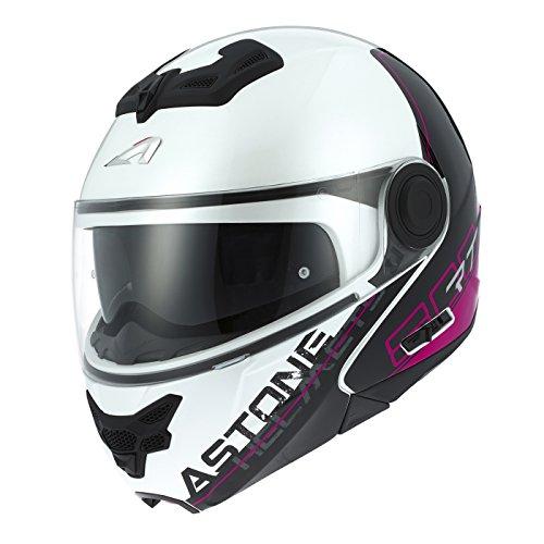 Astone Helmets rt800-line-pwm Casco Moto RT 800LINETEK, Rosa/Bianco