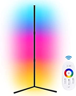 LED Eck-Stehlampe RGB Farbwechsel Standlampe Weiche Beleuchtung Zuhause Minimalismus warme Atmosphäre für Wohnzimmer Schlafzimmer Kinderzimmer mit Fernbedienung