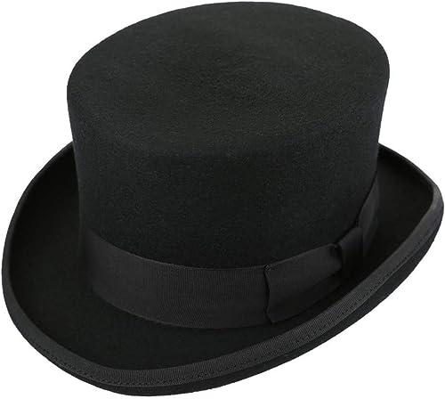 solo para ti Gububi Top Wool Hat Hat Hat Party Dress Up Sombreros para Adultos Disfraz de Fiesta para Hombre mujer Unisex - negro (tamaño   62CM)  de moda