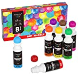 Magicfly Washable Dot Markers, 8 Colors Non-Toxic Paint Dauber for Kids, Toddlers