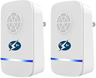 PestOut Ultrasonic Pest Repeller 2 Pack Plug in with Nightlight - Indoor Pest Repellent. Small, Easy, Quiet. Pest Defender.
