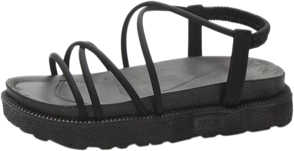 PLENTOP Women's Sandals Summer In a popularity New with Denver Mall Roman Thick Bot