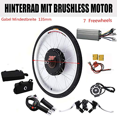 48V 1000W 28' E-Bike Conversion Kit,E-Bike Hinterrad Umbausatz