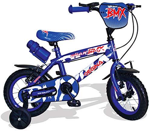 kidfun Bicicletta per Bambino 12' 2 Freni Regina BMX Blu