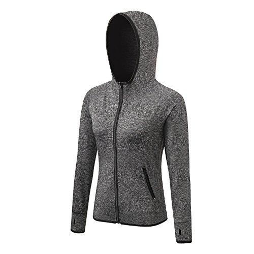 Shamdon Home Collection Frauen Fitness Yoga Sport Hoodies Zip Hooded Activewear Jacke