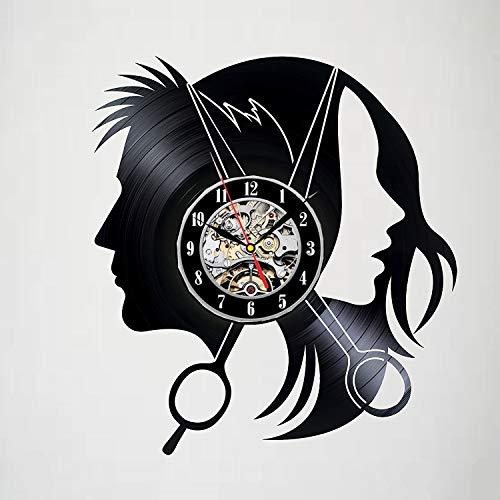 JXWH Regalos de Reloj de Pared de Vinilo de Corte Profesional para Amigos, Adolescentes, Hombres y Mujeres, niñas y niños Siete Colores,con luz,12 Inches