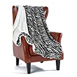 MERRYLIFE Sherpa Throw Blanket for Couch | Ultra-Plush Decorative Soft Colorful | Plush Travel Chair Blanket Throws(60' 70',Zebra