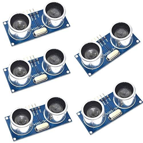 5-teiliges Ultraschallsensormodul HC-SR04, Entfernungsmesser-Sensor Ultraschall-Entfernungsmesssensor-Kits für Arduino UNO MEGA2560 Raspberry Pi