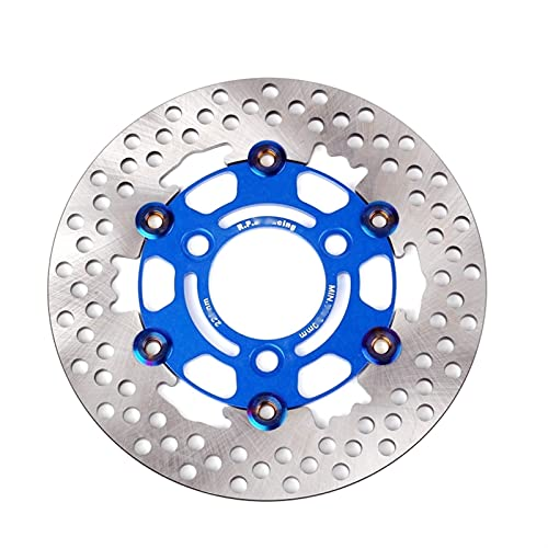 Pastillas de freno Pastilla De Freno De Motocicleta De Disco Flotante De Aleación De Aluminio Universal De 3 Orificios RPM Freno De Disco De 220 Mm Con Distancia De Orificio De 70 Mm ( Color : Blue )