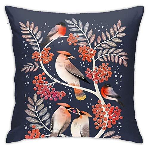 Federa per cuscino, stile bohémien, con ali di ceretta e ciuffoli, moderna, quadrata, decorazione per divano, letto, sedia, auto, 45 x 45 cm
