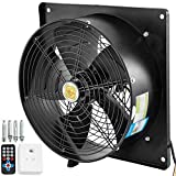 Daily Accessories 4 Pole Industrial Commercial Extractor Fan Ventilator Exhaust 400mm 16' Powerful 220V with Speed Control for Warehouse Restaurant Garage Kitchen