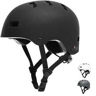 Vihir Dual Certified Bike Skateboard Helmet Classic Adult and Kids Adjustable Dial Helmet
