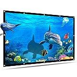 RongWang Pantalla de Proyecto de 6 tamaños Pantalla de proyector HD portátil de 120 Pulgadas Pantalla de proyección 16: 9 Plegable Grueso Duradero para Cine en casa al Aire Libre (Size : 70 Inch)