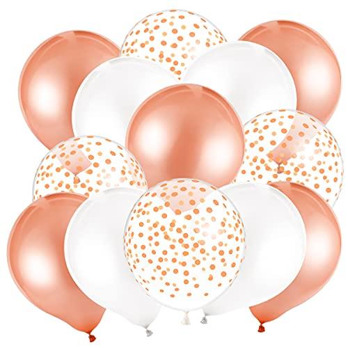 MELLIEX 50 Pièces Ballon Rose Or à Pois Ballons en Latex pour Mariage Fête d'anniversaire Décorations (12 Pouces/30CM)