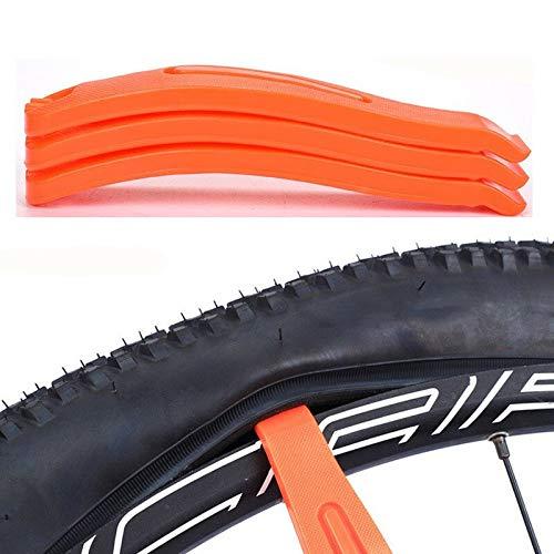 ZRONG 3pcs Naranja neumático de la Bicicleta Cuchara neumático con cámara Cambio Palancas de Nylon de Bicicletas Tire de la Palanca de reparación de Herramienta for Herramientas Bicicleta de montaña