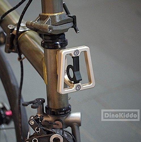 Dorado mate CNC Front Carrier bloque para Brompton Bicicleta Plegable–Dino Kiddo