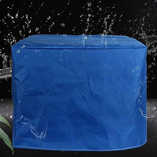 BGFC Gardín Mueble Cubrir Impermeable Intemperie Mesa Silla Proteccion Protector Solar a Prueba de Polvo, Rectángulo, Azul-110cmx110cmx80cm