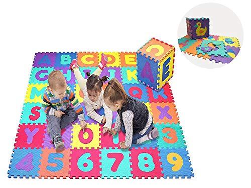 Star Ibaby Alfombra Puzzle Bebé 36 Piezas - 195x195 cm - Espuma XPE Ecologica - No tóxica - Modelo Animals.