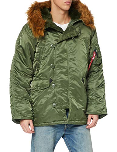 ALPHA INDUSTRIES Herren N3B Parkas, Grün (sage-Green 01), X-Large