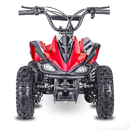 Fit Right 2020 Mars Kids 24V Mini Quad ATV,Dirt Motor Electric Four Wheeler Parental Speed Control, with 350W Motor Power Reserve, Large Tires & Wide Suspension (RED)