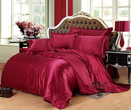 DSDD Silk bedding sets double, silk four-piece summer silk skating silk quilt cover, single duvet cover, king size bedding setN_1.5/1.8m bed linen