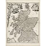 Visscher 1689 Pictorial Map Kingdom Scotland Large Print