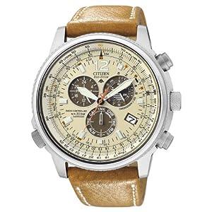 Citizen AS4020-44B – Reloj cronógrafo de Cuarzo para Hombre, Correa