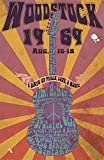 CDecor Woodstock Guitar Blechschilder, Metall Poster, Retro