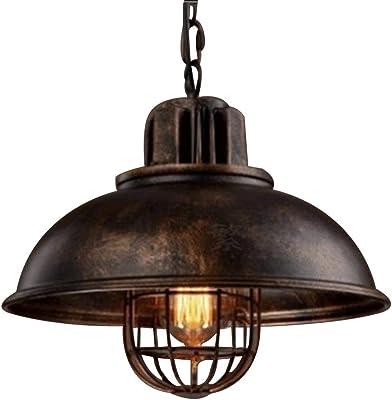 NIUYAO Lámparas de araña Metal Jaula Candelabro Iluminación de techo Industrial Chandelier Retro 1 Luz-
