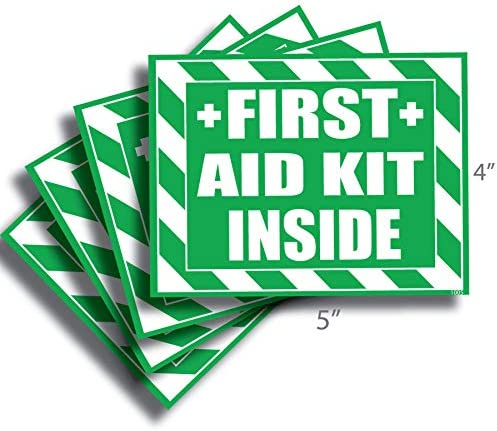 First Aid Kit Inside Sticker Decal Self Adhesive First Aid Kit Industrial Sign for Trucks or product image