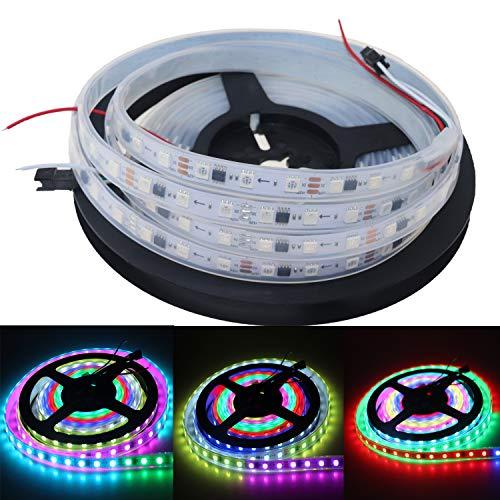 16,4 pies 5 m WS2811 150/300 LED RGB tira de luces LED direccionable color sueño persiguiendo DC12V digital programable