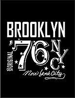 【FOX REPUBLIC】【ニューヨーク ブルックリン NYC ロゴ】 黒光沢紙(フレーム無し)A4サイズ