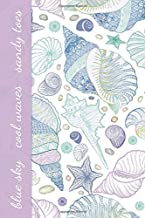 Blue Sky Cool Waves Sandy Toes: Pretty Seashell Theme Notebook for Women (Blank Lined Journal for Writing In)
